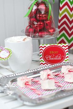 Hot Chocolate at a Christmas Party #christmas #hotchocolate