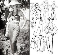 des années 1950 des années 50 maillots de bain 5 pièces