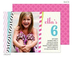 Vertical Party Banners Photo Invitations