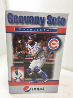 Geovany Soto Chicago Cubs Bobblehead Stadium Give Away SGA w Box Baseball #idegy #ChicagoCubs