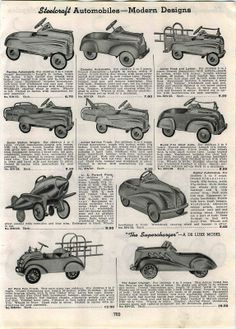 1941 Ad Steelcraft Pedal Cars