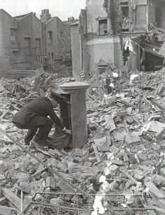 A British postman during the World War II. London, 1940. Keep Calm and Carry on!