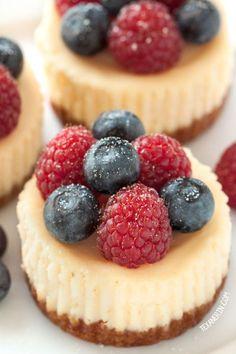 will sub the sugar for honey or coconut sugar :)  Mini  Cheesecakes (grain-free, gluten-free)