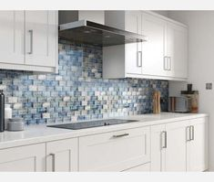 Raindrop Blue Glass Mosaic - Mosaic Tiles from Tile Mountain Green And Grey, Red Green, Blue, Kitchen Wall Tiles, Kitchen Cabinets, Mosaic Glass, Mosaic Tiles, Splashback Tiles, Hotel S