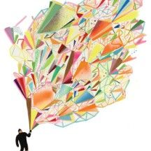 "AOL Canvas ""Yetti Explosion"" by AOL Artist Megan Whitmarsh"