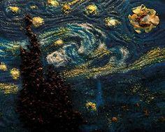 Kelly Mccollam recrée des tableaux de Van Gogh avec des épices.