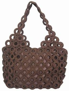 Crochet bag CROCHET AND KNIT INSPIRATION: http://pinterest.com/gigibrazil/crochet-and-knitting-lovers/