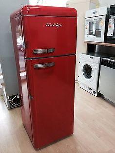 Goldyz Kühlschrank Gefrierkombination Retro Ferrari Rot A+ NEU