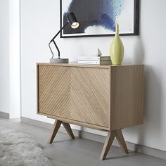 Buy Bethan Gray for John Lewis Newman Small Sideboard, Oak from our View All Design range at John Lewis & Partners. Contemporary Dining Room Furniture, Wood Furniture, Furniture Design, Small Sideboard, Oak Sideboard, Oak Dining Chairs, Make Design, 3d Design, Home Living Room