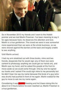 Martin Freeman is a true gentleman