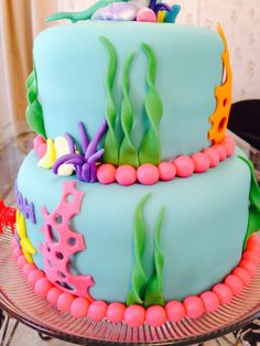 Little Mermaid cake! I don't know if you do fondant? @Jackie Godbold Godbold Godbold Godbold Picciano