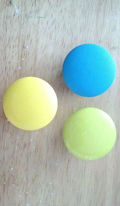 Drawer Knob TROPICAL SHADES Solid Color, cabinet pull, hand painted, set of 6