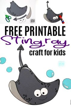 Looking for your next ocean theme or vbs craft? Use our free printable stingray template and make this simple stingray craft! Click and find the tutorial to make this fun kids craft. This cut and paste stingray craft is perfect for kids of all ages including preschoolers and toddlers     Ocean Crafts for Kids  #stingray #stingraycrafts #vbscrafts #oceananimals #oceananimalcrafts #simplemomproject Ocean Theme Crafts, Ocean Animal Crafts, Animal Crafts For Kids, Crafts For Kids To Make, Printable Crafts, Free Printable, Under The Sea Crafts, Sun Crafts, Diy