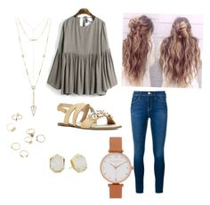 """""""Untitled #90"""" by ashleighyeager on Polyvore featuring Frame Denim, House of Harlow 1960, Olivia Burton, Kendra Scott and JustFab"""