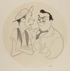 "AL HIRSCHFELD. Norton & Ralph, ""The Honeymooners"