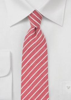 Trend-Krawatte kirschrot marmoriert Streifen