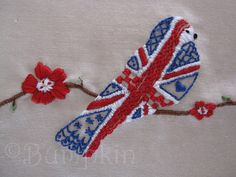 Great British Bird Embroidery Pattern by bumpkinbears, via Flickr
