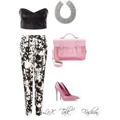 """""""Pink Floral"""" by lextalkfashion on Polyvore"""