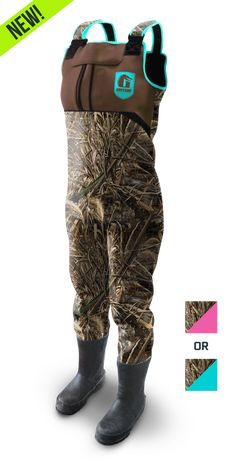Women's Throttle Series™ Waders - Camo (PRE-ORDER) **PINK - SMALL - 6**