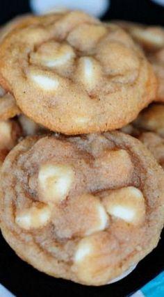 Chewy White Chocolate Cinnamon Cookies