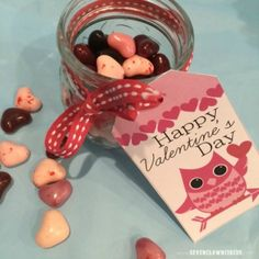 Free Printable gift tags for Valentines day!