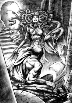 Medusa artwork (this was the inspiration for my own Medusa tattoo)