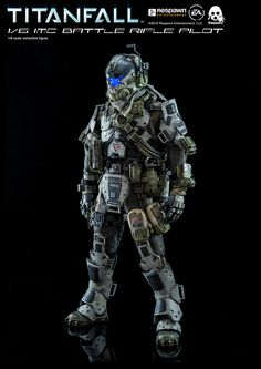 onesixthscalepictures: ThreeZero Titanfall BATTLE RIFLE PILOT : Latest product news for scale figures inch collectibles). Robo Do Star Wars, Star Wars Toys, Fallout, Character Concept, Character Design, First Person Shooter Games, Battle Rifle, Armor Concept, Concept Art