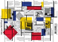 Postage stamps Years of De Stijl'. Image courtesy of Het Nieuwe Instituut Geometric 3d, Olafur Eliasson, Piet Mondrian, Shape Patterns, Mona Lisa, Cool Designs, Graphic Design, Image, Drawing Stuff