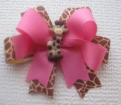 Giraffe Hair Bow by lillybellabows on Etsy, $14.00