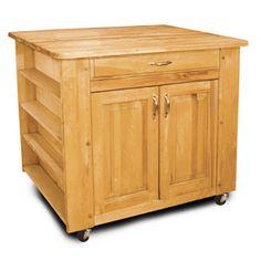 Catskill Craftsmen�24-in L x 40-in W x 34-1/2-in H Northeastern Hardwood/Oiled Kitchen Island