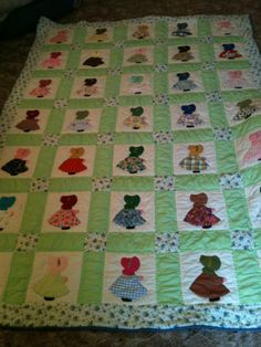 Sunbonnet Sue quilt made in the 1970s.