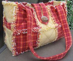 Homespun Country Rag Quilt Handbag Purse by SoaringHeartsQuilts, $39.00