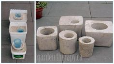 Tall Concrete Planter | ... loved how this one square planter turned out when planted with sedum