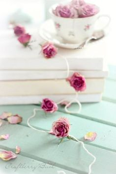 Dried rose garland - this looks gorgeous. How could I use this in my home?