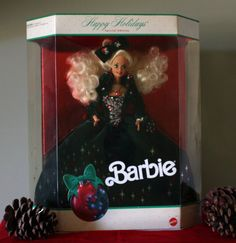 Vintage 1991 Holiday Barbie Doll Limited by PaintedOnPlaques, $195.00