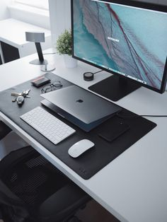 If you've never visited our store before then you wouldn't have seen one of our most popular products; our leather desk mats. Noticing the lack in quality and Computer Desk Setup, Gaming Room Setup, Pc Setup, Home Office Setup, Home Office Design, Desk Layout, Desk Mat, Workspace Inspiration, Workspace Design