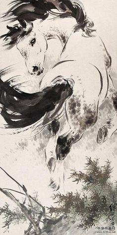Horse, by Liu Jiyou 刘继卣 (1918-1983)