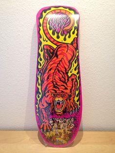 Salba Tiger, Santa Cruz, pink dip. Jim Phillips graphics. reissue.