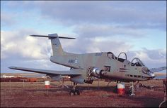 """Falklands War, Argentinian Pucara ground attack aircraft at Goose Green. The plane has lost to the """"memento collectors""""."""