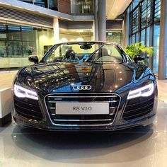 Look me into my #AudiLED eyes | 2014 Audi R8 Spyder at Audi Forum Ingolstadt