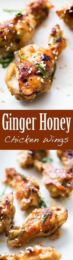 Irresistible, addictive chicken wings! With a fresh ginger, honey, soy sauce marinade. Perfect for #GameDay #SuperBowl On SimplyRecipes.com