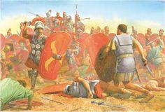 Spartacus rushes at Crassus