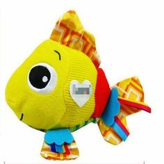 Baby Rattles & Mobiles Multi-touch Clownfish Rang paper Stuffed toys Crib Stroller Pendant with BB device and Massage particles