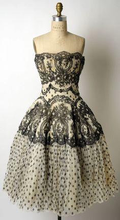 Evening Dress. Lanvin-Castillo 1954–55