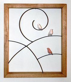 Quadro passarinhos | VILLASBRASIL | Elo7