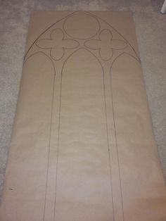 template for carved foam church windows. Halloween forum member