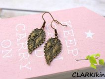 Ohrringe Bronze Blätter von CLARKIkind