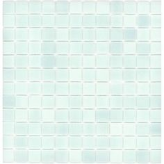 """Elida Ceramica 12-1/2"""" x 12-1/2"""" Recycled Mosaic Light Blue Green Glass Wall Tile $11.13"""