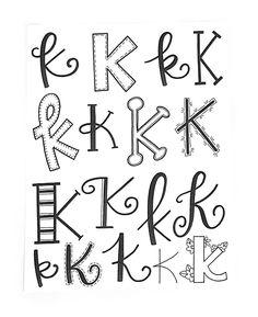 "419 Likes, 12 Comments - Jessie Arnold (@mrs.arnoldsartroom) on Instagram: ""Letter K! #handletteredabcs #handletteredabcs_2017 #abcs_k #lettering #letterer #handlettered…"""