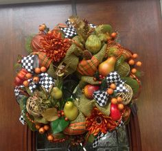 Whimsical Fall Wreath by HertasWreaths on Etsy